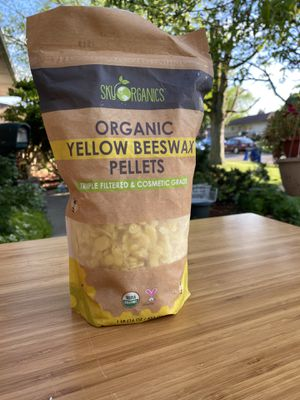 Sky Organics yellow beeswax for Sale in Columbus, OH