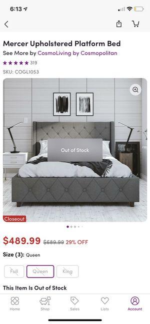 Queen Platform Bedframe- Brand New! for Sale in Columbus, OH