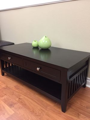101901 solid wood coffee table espresso for Sale in Fullerton, CA
