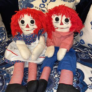 Vintage Raggedy Anne And Andy Dolls for Sale in San Diego, CA