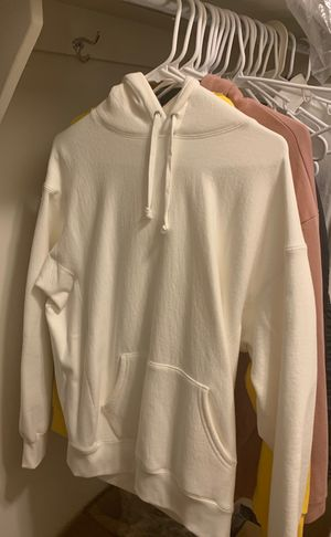 Supreme Studded Hooded Sweatshirt White Size M for Sale in Washington, DC