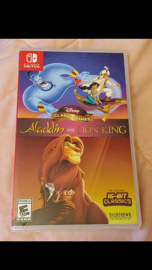 NINTENDO SWITCH ALLADDIN & THE LION KING BRAND NEW SEALED for Sale in Riverside, CA