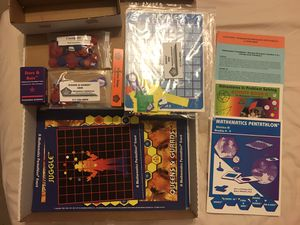 Like NEW Math Pentathlon grades 4-5, division III set with bonus boards and Activity II Book for Sale in Austin, TX