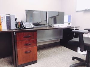 Sturdy Office Desk in Executive Espresso for Sale in Annandale, VA