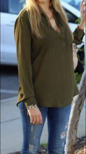 Plus Size Olive Green Blouse for Sale in Los Angeles, CA