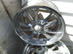 Two sets of 20 inch rims one set of 22 set rims and tires and want to get rid of them but I need some 17 big tires for my truck when I crave for Sale in Grand Junction, CO