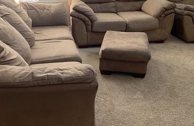 Ashley Microfiber Mocha Colored Sofas for Sale in Longmont,  CO