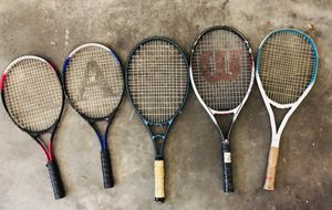 5 tennis rackets for 10$ for Sale in Riverview, FL