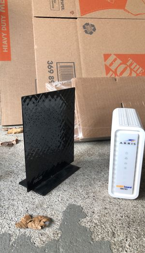 Router and modem for Sale in Union City, NJ