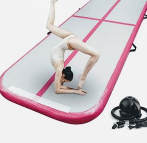 FBSPORT Inflatable Gymnastics Mat, for Home Use, Training, Sports Animation, Yoga, Water, with Pump,13.12ft*3.3ft*4in(4*1*0.1m) for Sale in Ontario, CA
