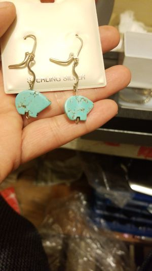 BEAUTIFUL STERLING SILVER EARRINGS WITH turquoise for Sale in Springfield, VA