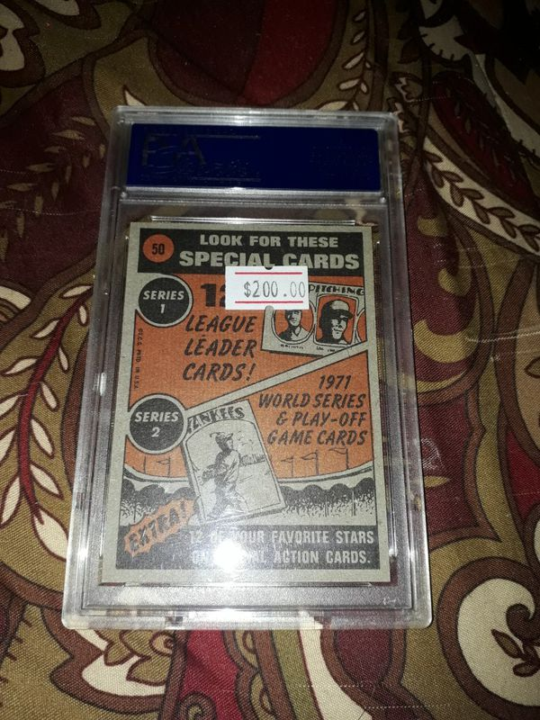 1972 Topps Willie Mays In Action PSA Mint 9