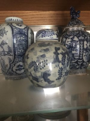 Antique blue Chinese vases for Sale in Gambrills, MD