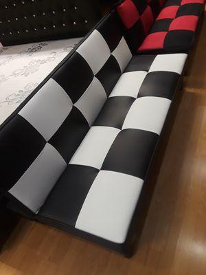Beautiful black and white checker futon for Sale in Santa Monica, CA