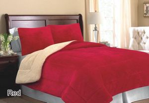 Queen size 3pcs Premium Thick Borrego Blanket Set for Sale in Brooks, OR