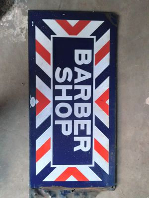 Old school real metal Barber sign $200 for Sale in Los Angeles, CA
