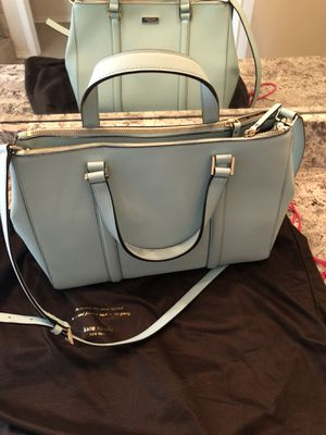 Baby blue Kate spade purse. for Sale in Plano, TX