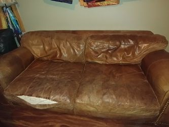 Brown leather couch for Sale in South Salt Lake,  UT