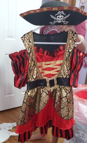 size 3T- 4T Pírate costume for Sale in Houston, TX