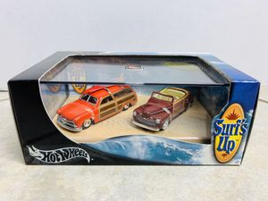 Hot Wheels Surf's Up Set '49 Ford Woody & '46 Ford Ragtop 1:64Scale for Sale in Vancouver, WA