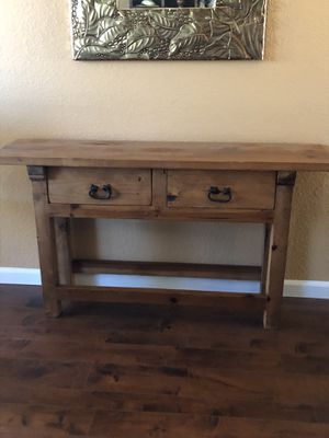 Mexican Pine Console Table for Sale in Mather, CA