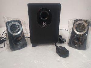 Logitech Z313 3 Piece 2.1 Channel Multimedia Speaker System - Black / Silver for Sale in Paramount, CA