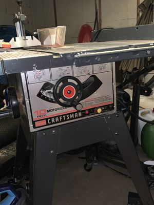 All steel 10 inch craftsman table saw, 3 HP with steel base on wheels for Sale in Washington, PA