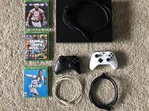 Xbox One X 1TB + 2 Controllers + 3 games (all cables included) for Sale in Dublin, OH