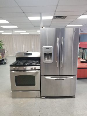 5 burns gas stove and French doors fridge for Sale in Aurora, IL