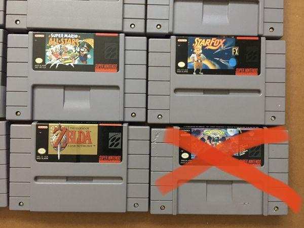SNES Super Nintendo w/ games