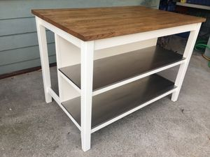 Large Kitchen island with stainless steel shelves for Sale in West Covina, CA