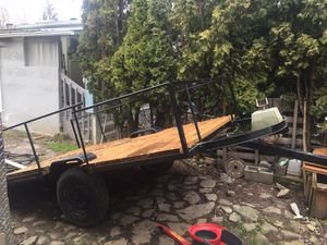 10'x6' UTILITY TRAILER NEVER USE FRESH PAINT ,PRESSURE TREATED BOARDS ,HITCH , JACK for Sale in Hillsboro, OR