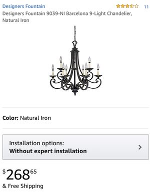 Designers Fountain chandelier basically new. for Sale in Phelan, CA