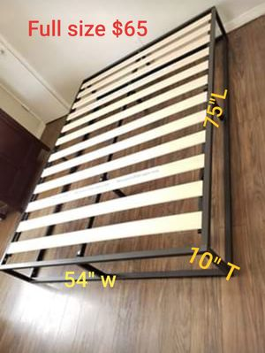Platform bed frame full size. Brand new. Free delivery. $65 for Sale in Modesto, CA