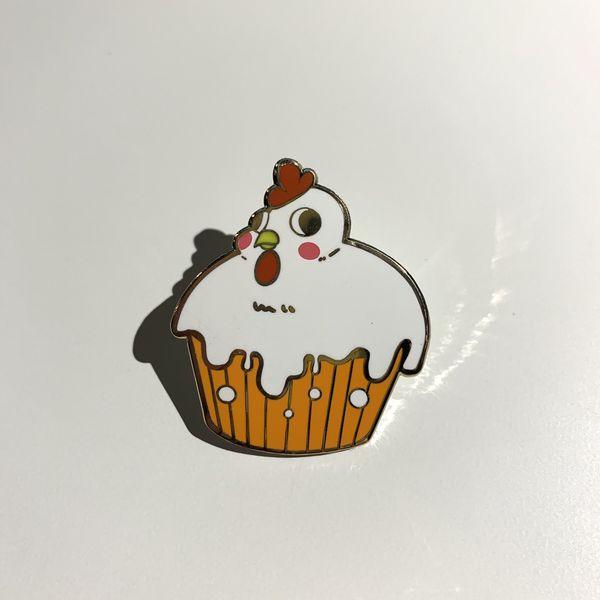Chicken Cupcake Hard Enamel Pin