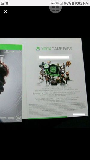Star Wars Jedi: Fallen Order (Xbox one plus 1 month game pass for Sale in San Diego, CA