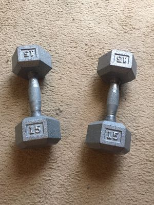 15 pound hex dumbbells for Sale in Philadelphia, PA