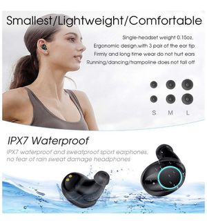 True Wireless Earbuds Bluetooth 5.0 Auto Pairing Wireless Earphones IPX7 Waterproof Sport Bluetooth Headphones with 3500Mah Charge Case and Mic HD Ca for Sale in Irvine, CA