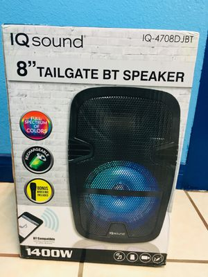 """New 8"""" Bluetooth Speaker 1400 Watts Tailgate Comes With Mic And Remote Control for Sale in Riverside, CA"""