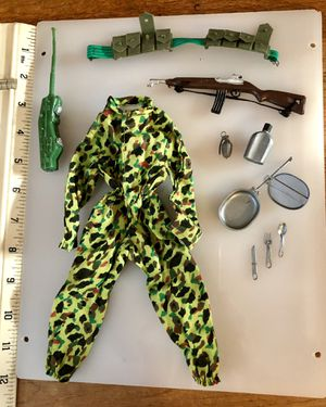Vintage GI Joe Jungle Fighter Camouflage Jumpsuit Set for Sale in Long Beach, CA