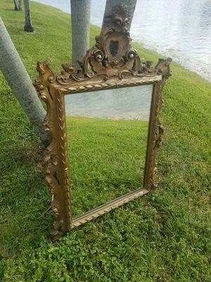 $65.00 - Mirror, Large Antique Gold/Baroque/Majestic - Please read description for Size for Sale in Miami, FL