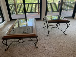 Glass Coffee Table and End Table for Sale in Pittsburgh, PA