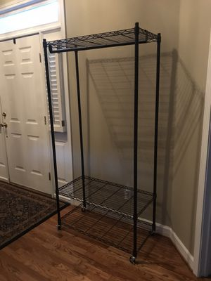 3 Tier Closet Storage Clothes Wardrobe Organizer Garment Rack With Cover for Sale in Simpsonville, SC