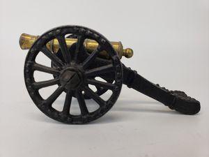 Cast Iron Vintage Civil War Cannon Figurine for Sale in Mesa, AZ