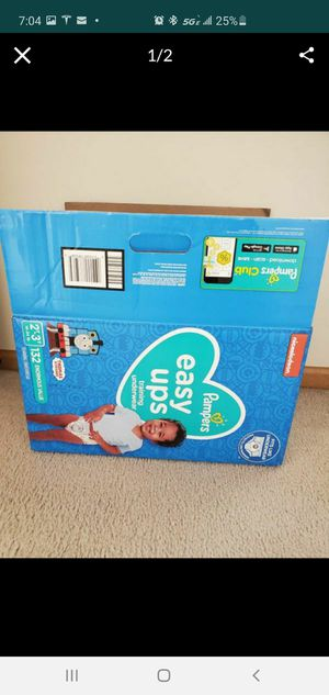 Pampers easy ups size 2-3 t for Sale in Naperville, IL