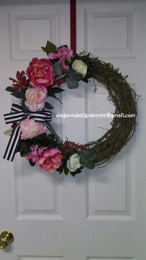 New Handmade Rose and Peony Wreath for Sale in St. Louis, MO
