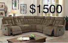 New Sectional Couch with Recliners only $50 down for Sale in Los Angeles, CA