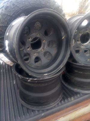 Chevy truck rims 16x10 six lugs for Sale in Westland, MI