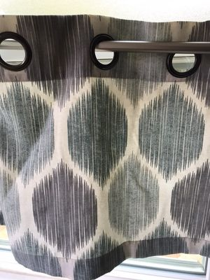Beautiful 1 blue/Grey contemporary pattern kitchen curtains only for Sale in Santa Monica, CA