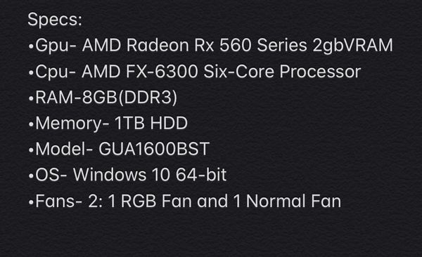 $500 OBO Cyberpower Gaming Pc (No monitor)